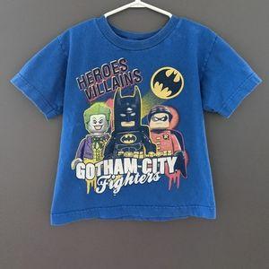 Batman Lego blue short sleeved t-shirt